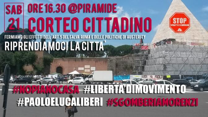 I movimenti occupano la Piramide verso il corteo di domani #21G