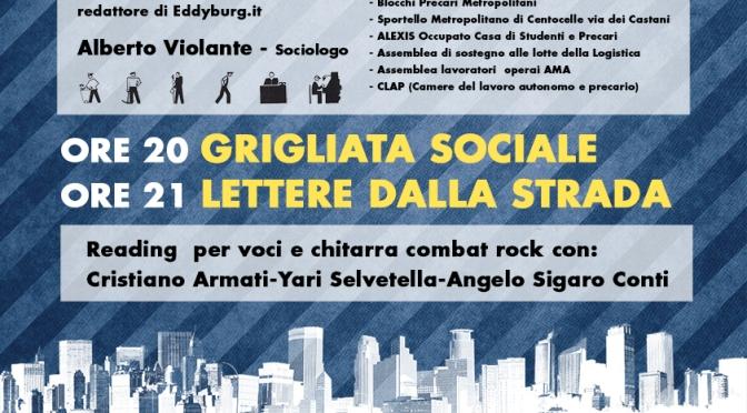 Domenica 29 iniziativa pubblica su CASA E LAVORO: RIAPPROPRIAZIONE E LOTTA