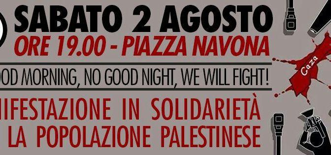 2 agosto Presidio solidale con la Palestina