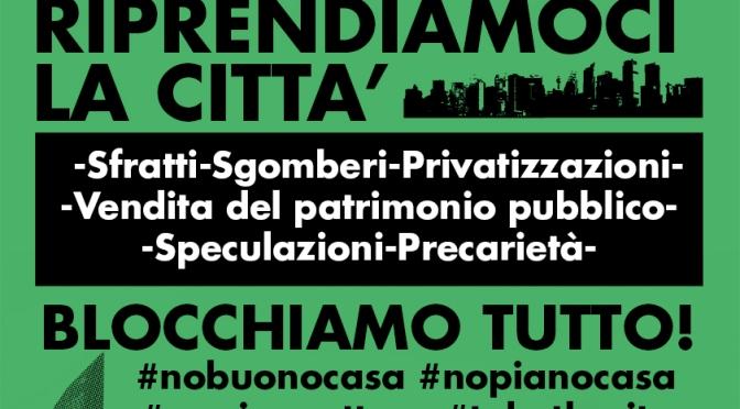 Riparte la mobilitazione: strappati i moduli per il contributo affitto! #16S tutt@ in Campidoglio