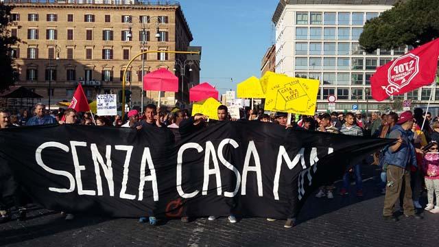 #17A, il diritto alla casa è la vera priorità: 5000 in piazza a Roma