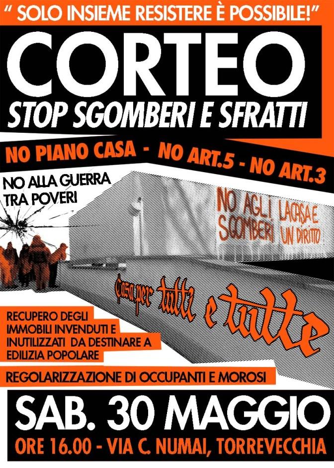 30 Maggio: CORTEO PER IL DIRITTO ALLA CASA a Roma Nord