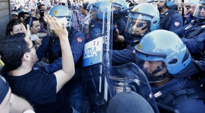 Roma, Battistini: gli unici stranieri sbirri e fascisti nei quartieri