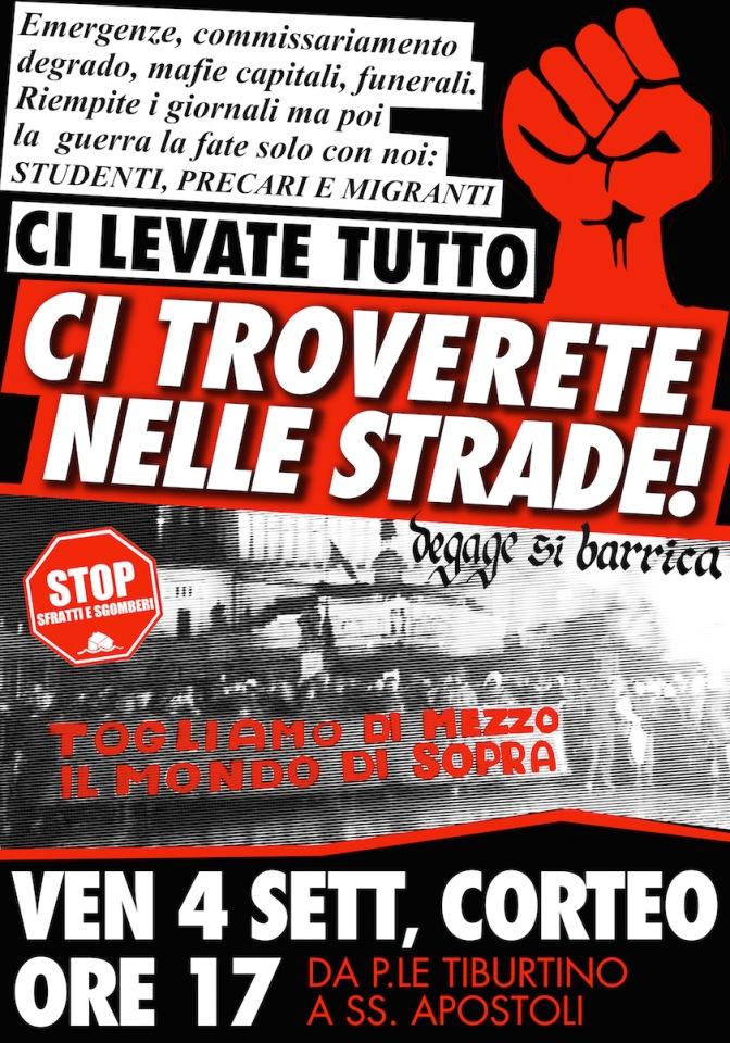 #4S TUTTI E TUTTE A PIAZZALE TIBURTINO!