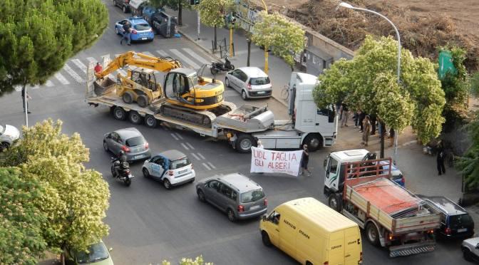 Bloccato il cantiere LIDL a Roma Est