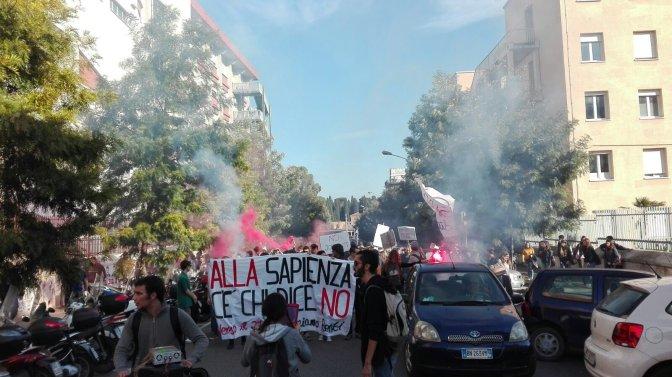 Sapienza dice NO: Corteo e riappropiazione verso il #27NO